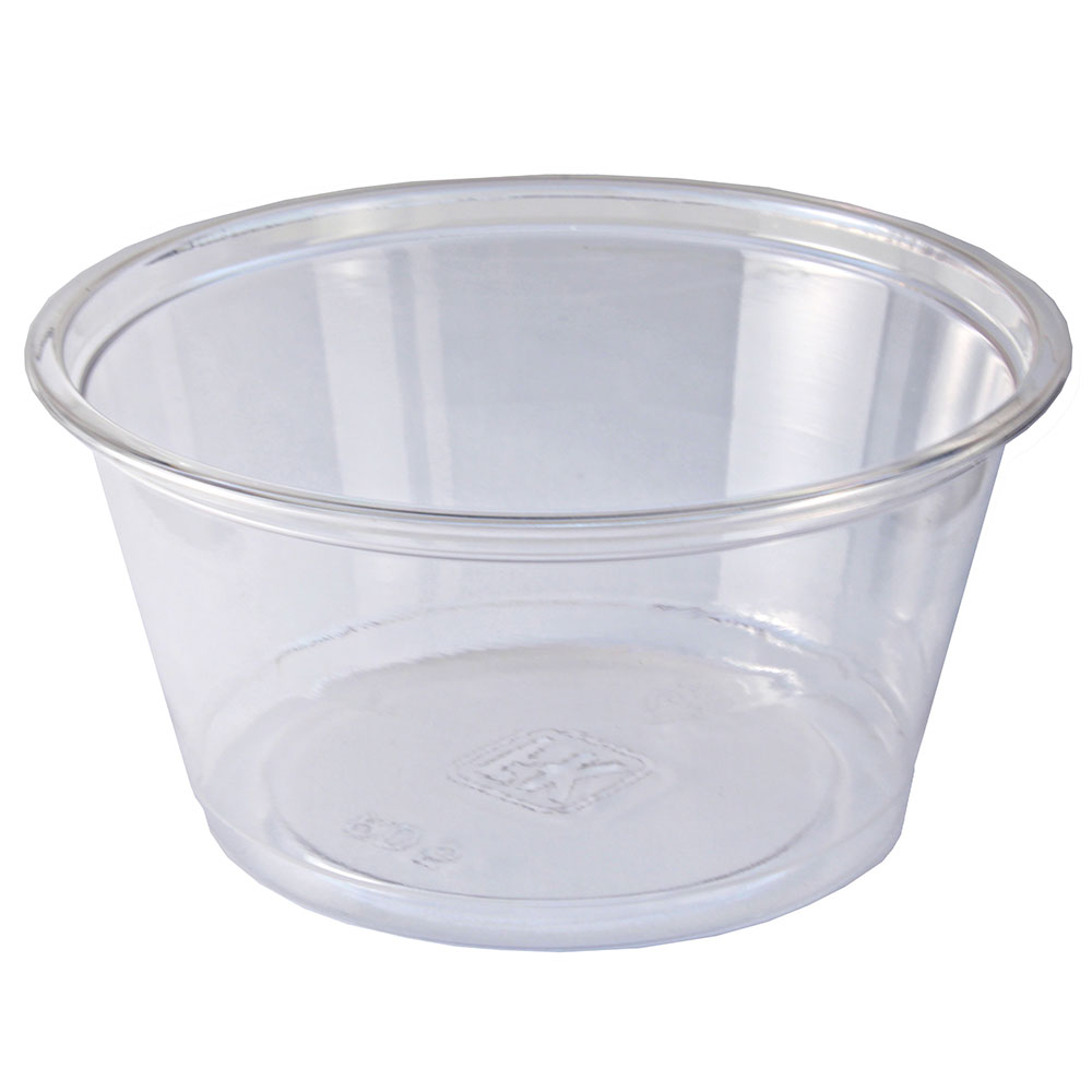 Fabri-Kal RD5 5-oz Alur Round Container - Plastic, Clear