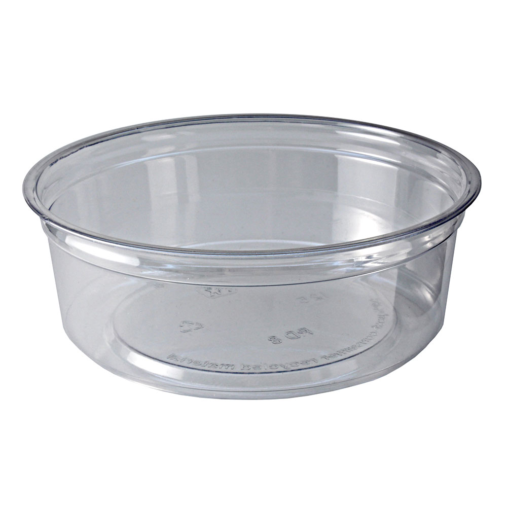 Fabri-Kal RD8 8-oz Alur Round Container - Plastic, Clear