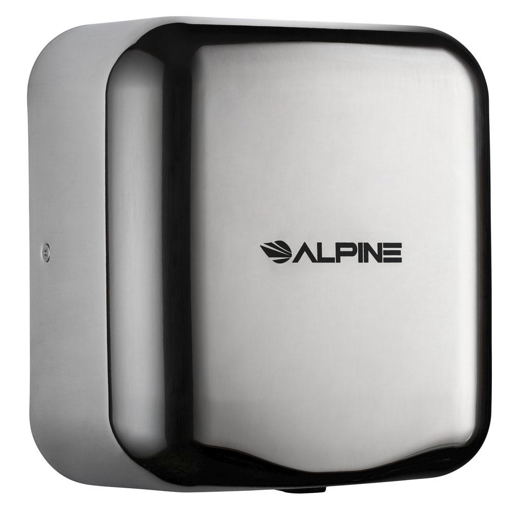 Alpine Industries 400-10-CHR Automatic Hand Dryer w/ 10-Sec Dry Time - Chrome, 110-120v