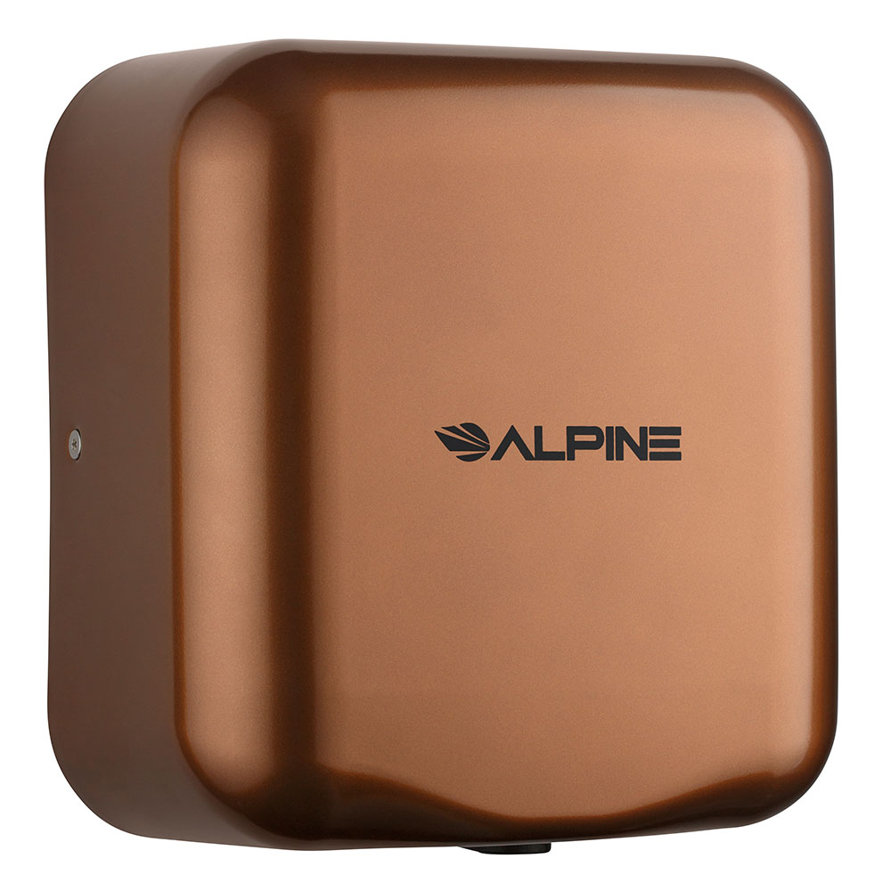 Alpine Industries 400-10-COP Automatic Hand Dryer w/ 10-Sec Dry Time - Coffee, 110-120v