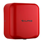 Alpine Industries 400-10-RED Automatic Hand Dryer w/ 10-Sec Dry Time - Red, 110-120v