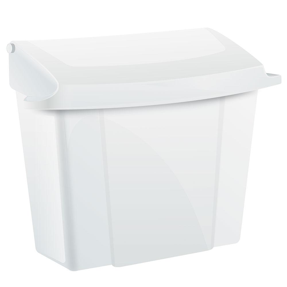 "Alpine Industries 451-WHI Wall-Mount Sanitary Napkin Receptacle - 9"" x 5"" x 10"", Plastic, White"