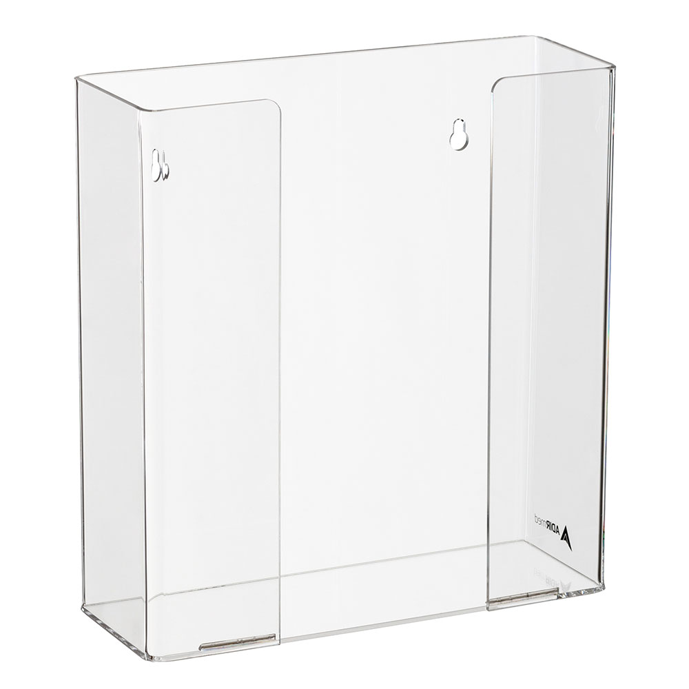 Alpine Industries 902-02 Wall-Mount Glove Dispenser w/ (2) Box Capacity - Acrylic, Clear