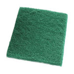 "Clean Up by KaTom 89992944 Medium-Duty Scour Pad - 6"" x 9"", Green"