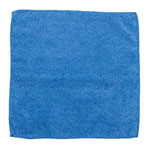 "Clean Up by KaTom MFMP12BL 12"" Square Multi-Purpose Towel - Microfiber, Blue"
