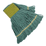 Clean Up by KaTom 89990012 Small Wet Mop Head w/ Looped Ends - Cotton, Green