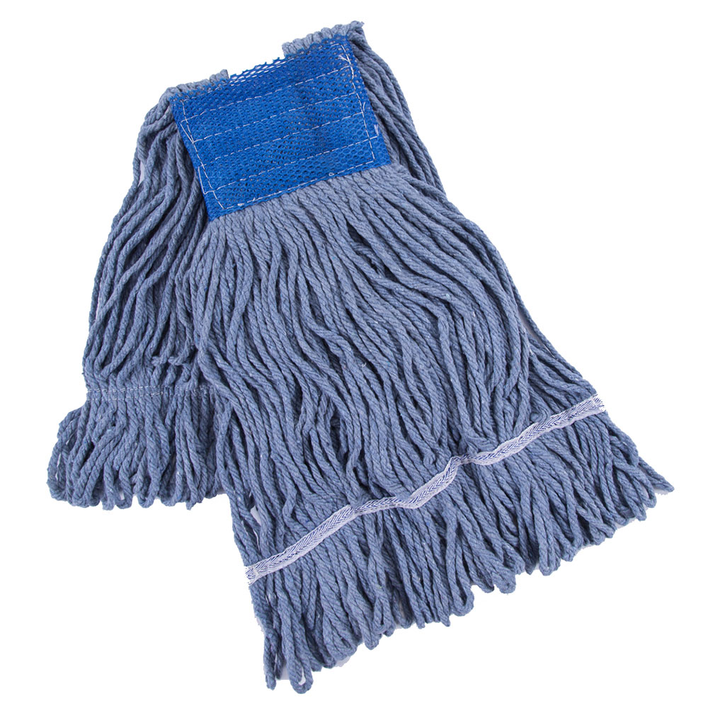 Clean Up by KaTom 89990197 Large Wet Mop Head w/ Looped Ends - Cotton, Blue