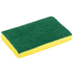 "Clean Up by KaTom 89992943 Scrub Sponge - 4"" x 6"", Green/Yellow"