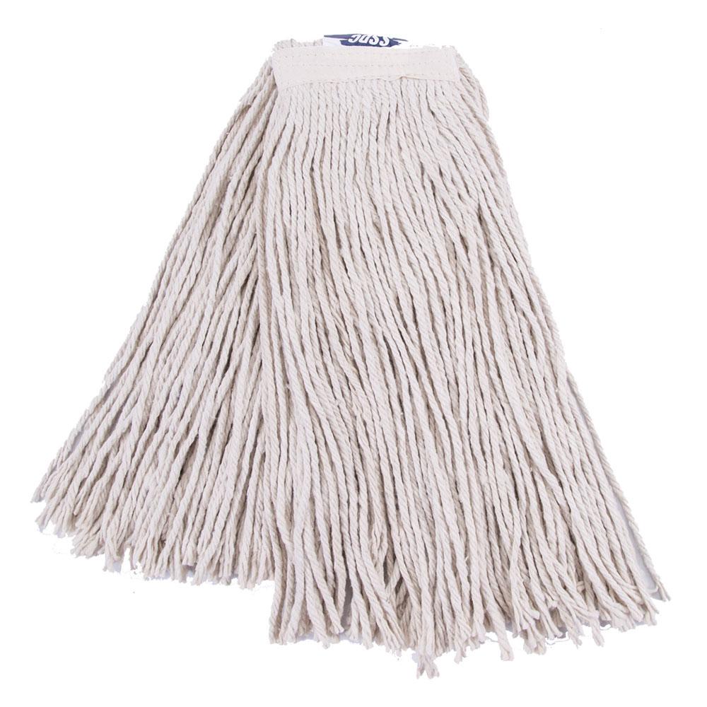 Clean Up by KaTom 92213306 Large Wet Mop Head w/ Cut Ends - Cotton, White