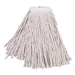 Clean Up by KaTom 92213311 Medium Wet Mop Head w/ Cut Ends - Cotton, White
