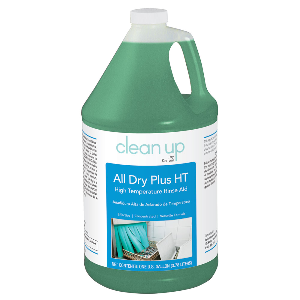 Clean Up by KaTom ALLDRYHT4 1-gal All Dry Plus HT High-Temp Rinse Aid for Commercial Dishwashers