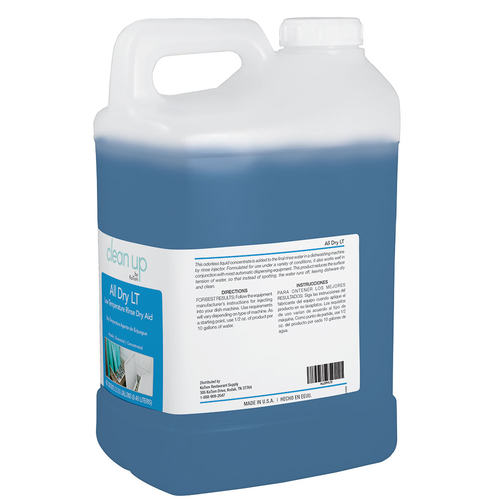 Clean Up by KaTom ALLDRYLT2 2.5-gal All Dry LT Low-Temp Rinse Aid for Commercial Dishwashers