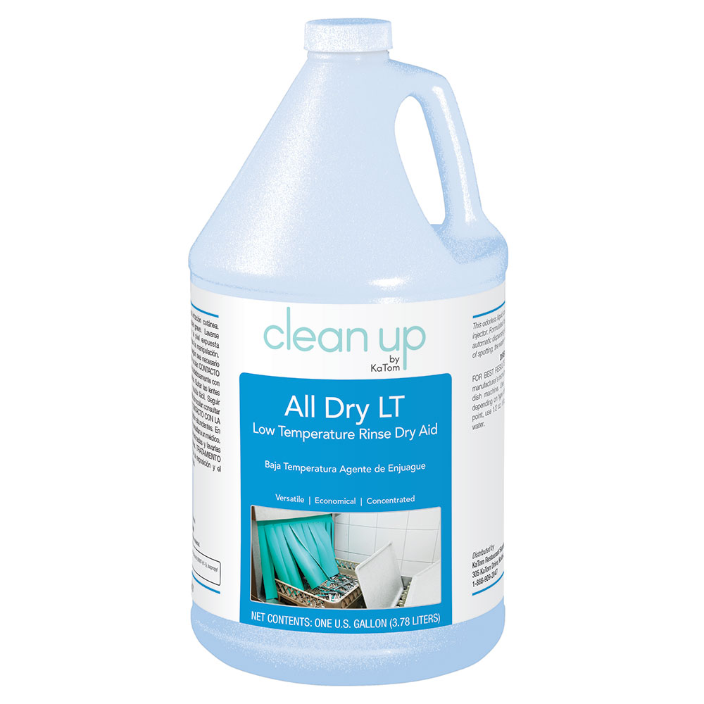 Clean Up by KaTom ALLDRYLT4 1-gal All Dry LT Low-Temp Rinse Aid for Commercial Dishwashers