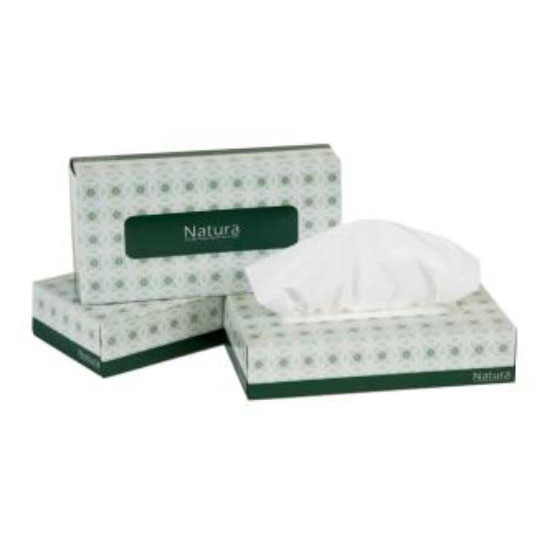 "Clean Up by KaTom FTF7.9X7.12P100 2-ply Flat Box Facial Tissues, 7.9"" x 7.1"""