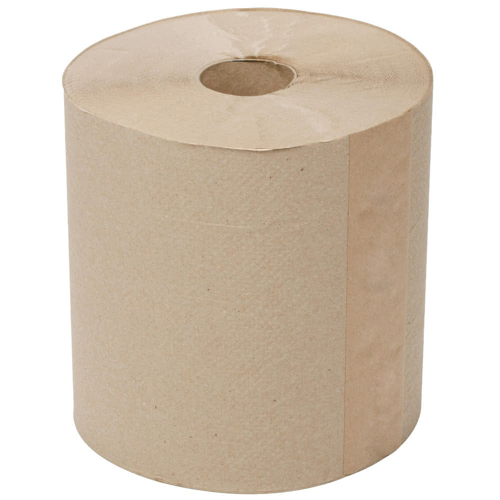 Clean Up by KaTom HWT8X300N 300-ft Hardwound Paper Towel Roll, Natural Brown