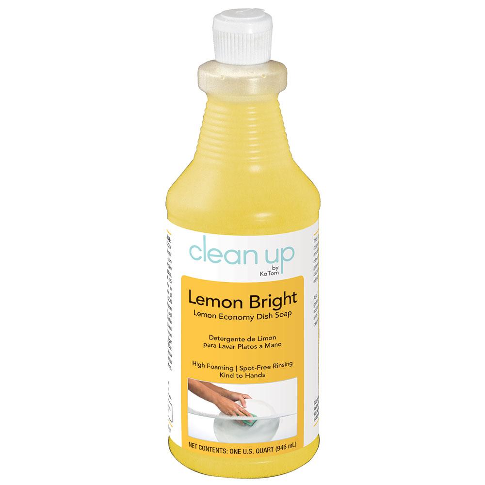 Clean Up by KaTom LEMON 1-qt Lemon Bright Economy Dish Soap, Lemon Scent