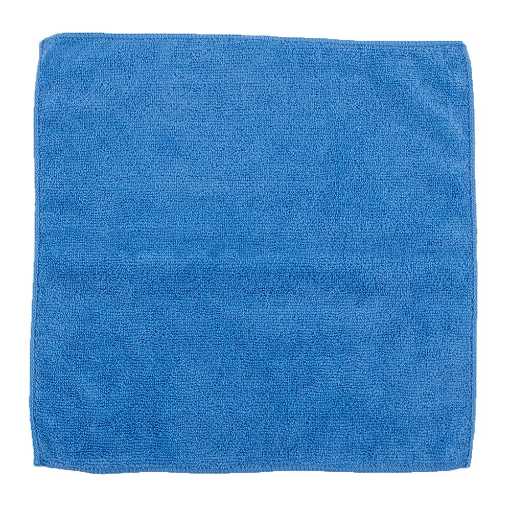 "Clean Up by KaTom MFMP12BL 12"" Square Multi-Purpose Towel - Microfiber, Blue"