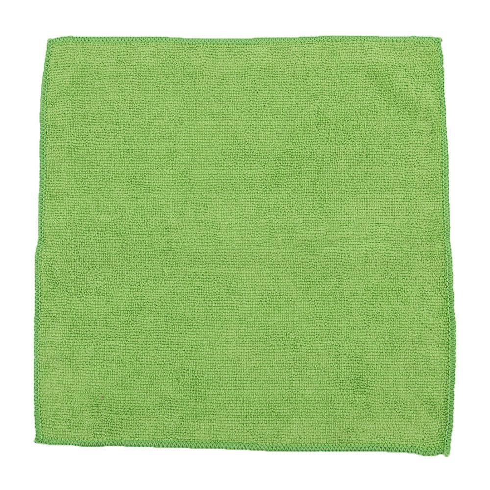 "Clean Up by KaTom MFMP12GN 12"" Square Multi-Purpose Towel - Microfiber, Green"