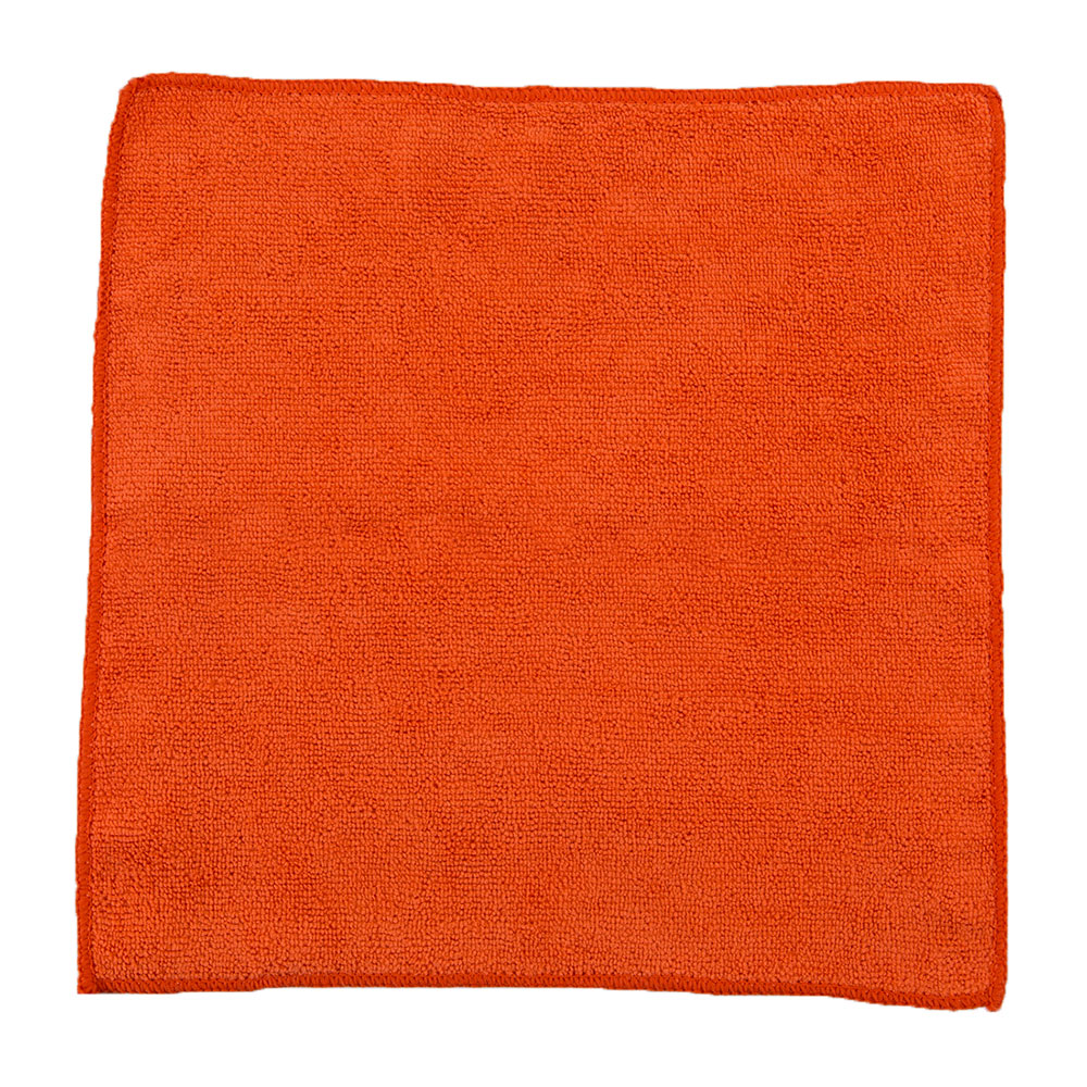 "Clean Up by KaTom MFMP12OR 12"" Square Multi-Purpose Towel - Microfiber, Orange"