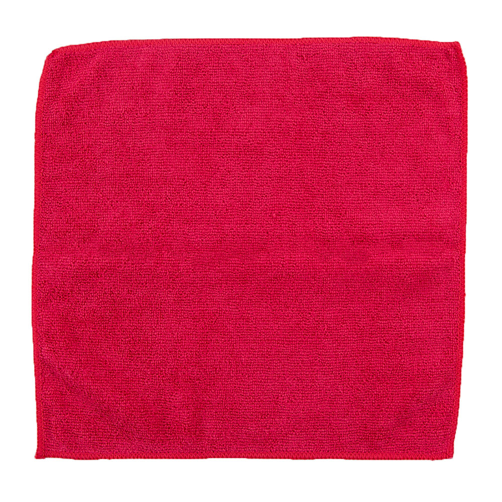 "Clean Up by KaTom MFMP12RD 12"" Square Multi-Purpose Towel - Microfiber, Red"