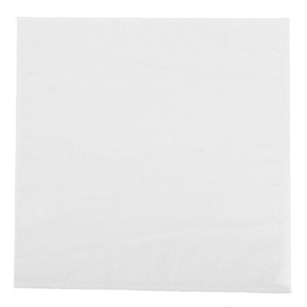 "Clean Up by KaTom MFMP12WH 12"" Square Multi-Purpose Towel - Microfiber, White"