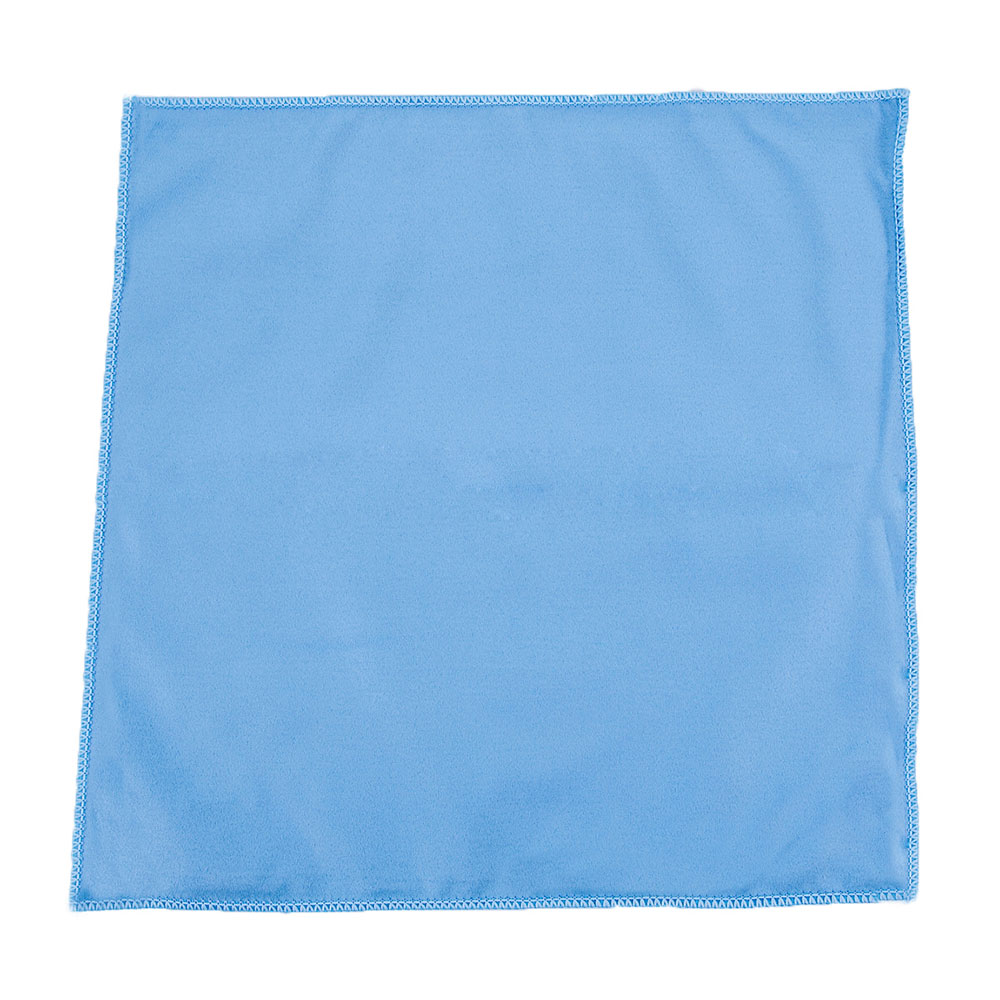 "Clean Up by KaTom MFMP15GT 15"" Square Glass/Mirror Towel - Microfiber, Blue"