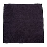 "Clean Up by KaTom MFMP16BK 16"" Square Multi-Purpose Towel - Microfiber, Black"