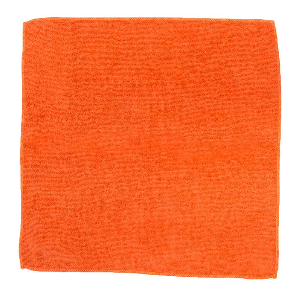 "Clean Up by KaTom MFMP16OR 16"" Square Multi-Purpose Towel - Microfiber, Orange"