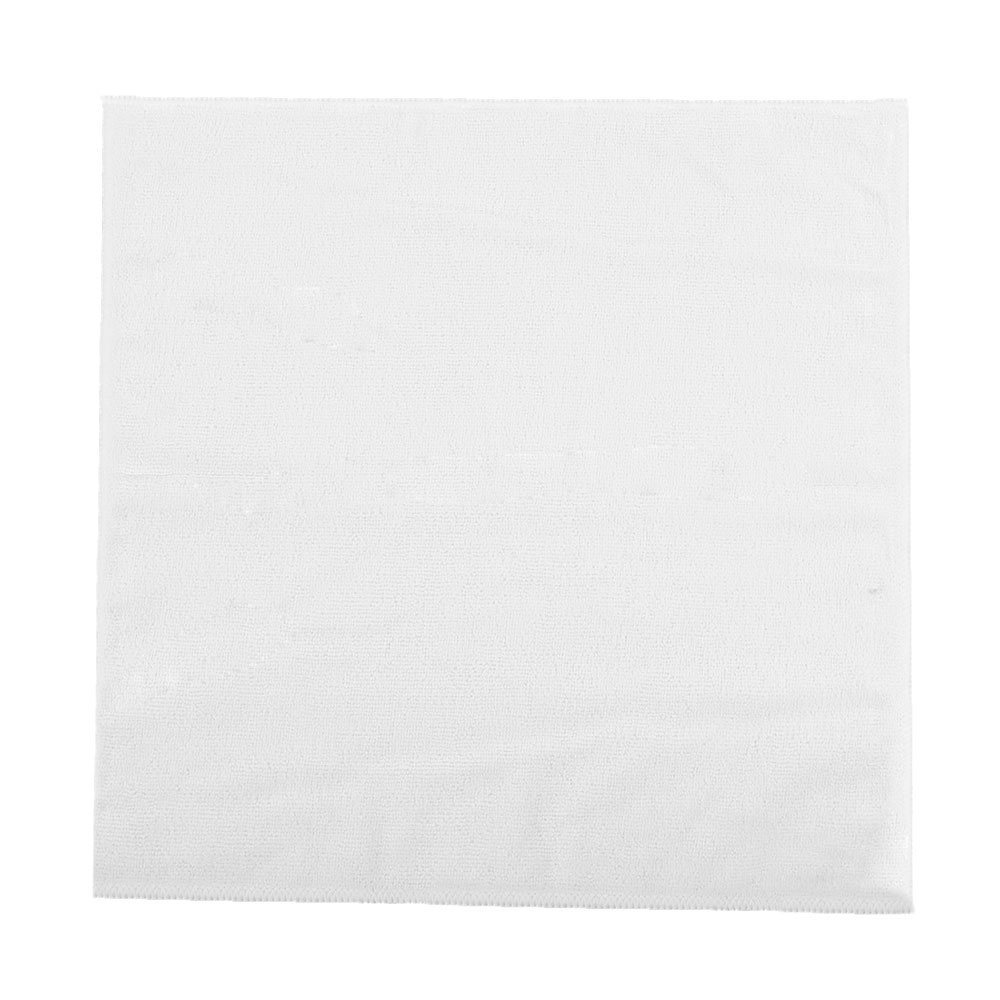 "Clean Up by KaTom MFMP16WH 16"" Square Multi-Purpose Towel - Microfiber, White"