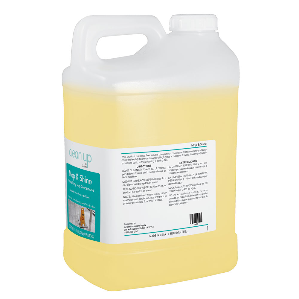 Clean Up by KaTom MOP2 2.5-gal Mop & Shine Neutral Damp Mop Concentrate, Lemon Scent