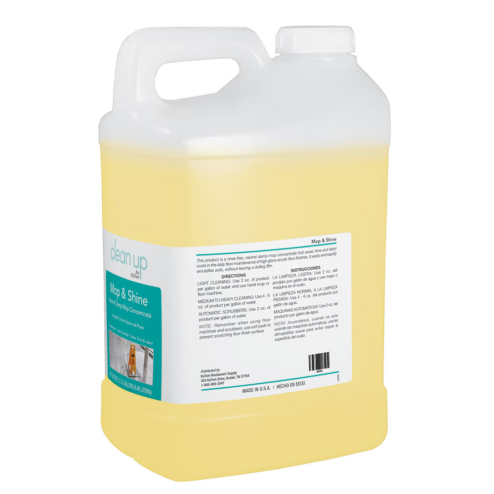 Clean Up by KaTom MOP 2.5-gal Mop & Shine Neutral Damp Mop Concentrate, Lemon Scent