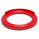 "Devault Enterprises ICD-2000 16.25"" Keg Stacker for Full and Half-Size Kegs - Plastic, Red"