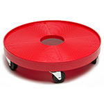 "Devault Enterprises ICD-3000 16"" Round Keg Dolly w/ 500-lb Capacity - Plastic, Red"
