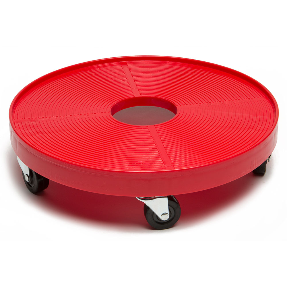 "Devault Enterprises ICD-3000 16"" Round Keg Dolly w/ 500-lb Capacity - Plastic, Red"