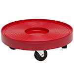"Devault Enterprises ICD-6000 12"" Slim Keg Dolly for Half-Size Kegs - Plastic, Red"