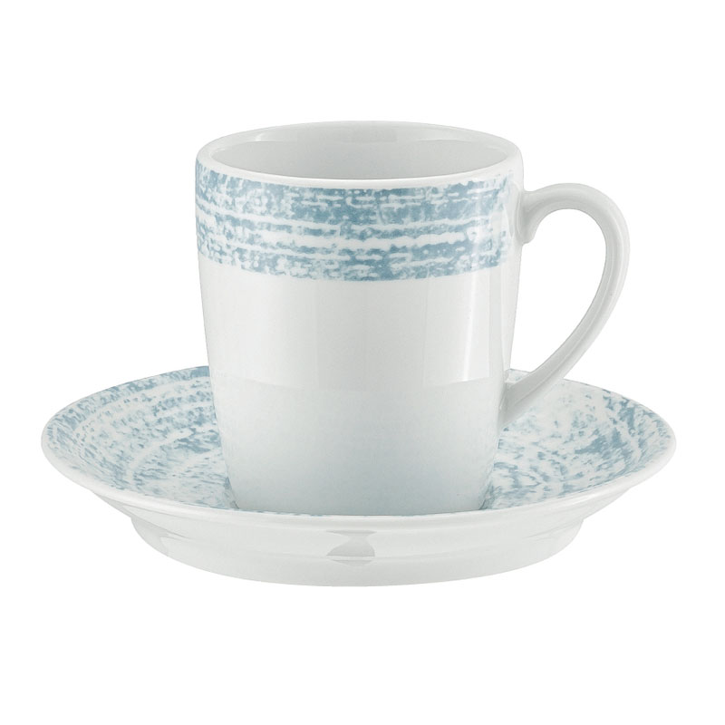 Schonwald 9015270-63072 6.75-oz Shabby Chic Cup - Porcelain, Structure Blue