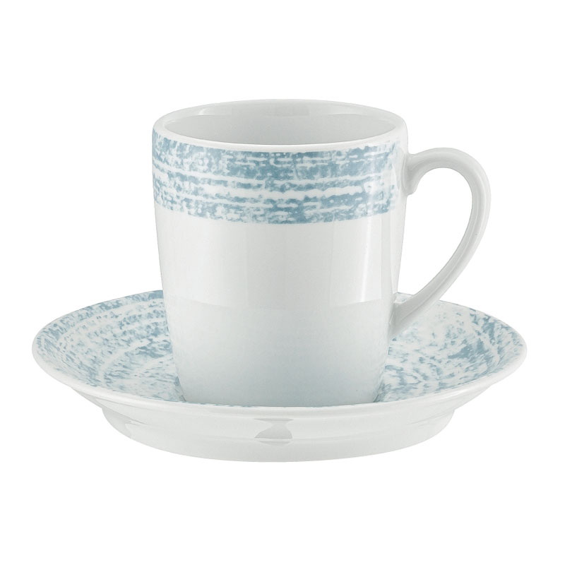 """Schonwald 9016919-63072 5.5"""" Shabby Chic Saucer - Porcelain, Structure Blue"""