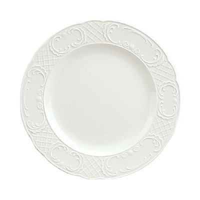 """Schonwald 9060016 6.25"""" Round Plate - Porcelain, Marquis, Continental White"""