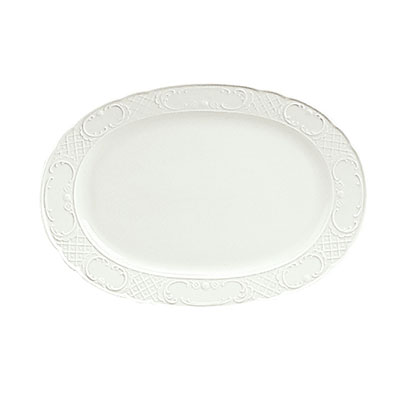 "Schonwald 9062033 13"" Oval Platter - Porcelain, Marquis, Continental White"