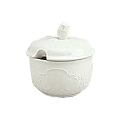 Schonwald 9064919 6.5-oz Round Sugar Bowl w/ Lid, Porcelain, Marquis, Continental White