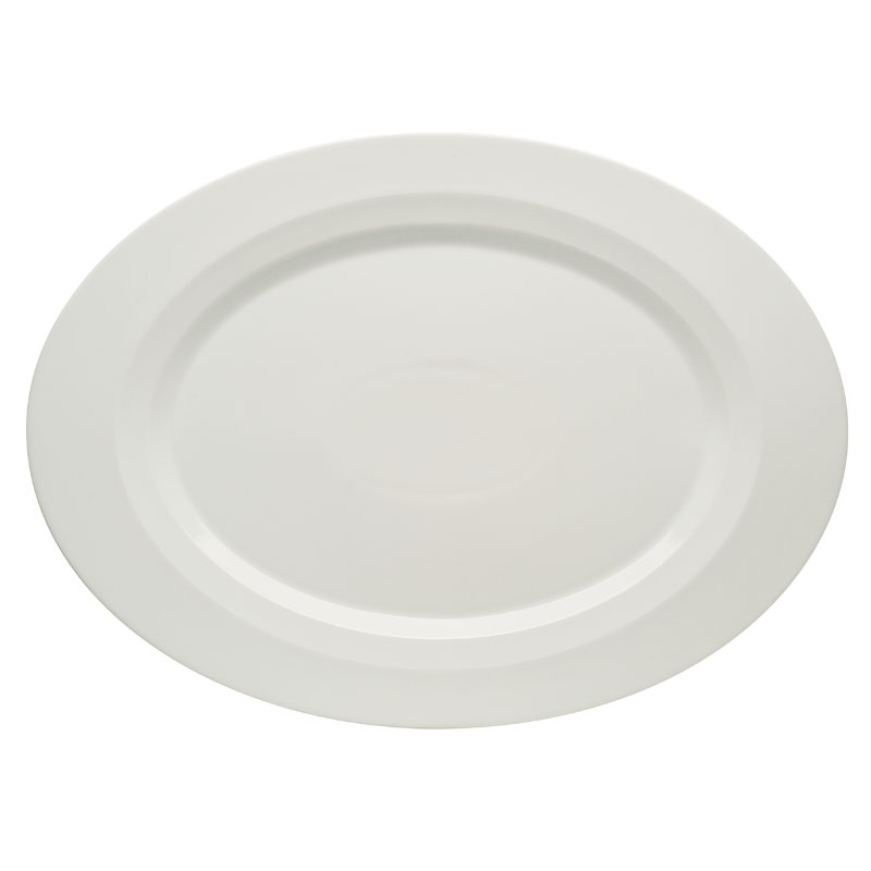 "Schonwald 9122030 Oval Allure Platter - 11.75"" x 8.63"", Porcelain, Bone White"