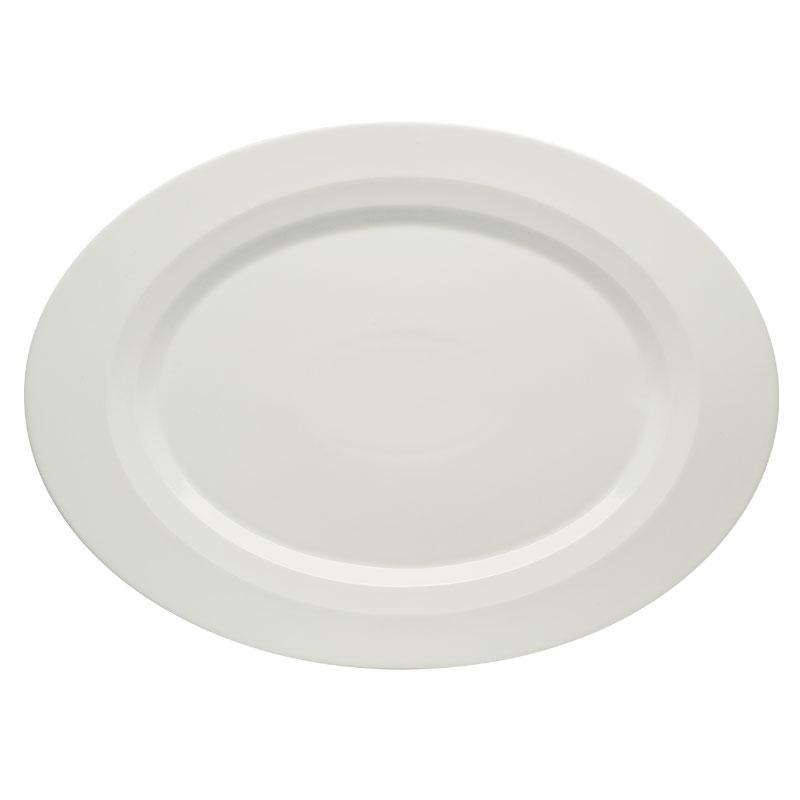 "Schonwald 9122034 Oval Allure Platter - 13.38"" x 9.75"", Porcelain, Bone White"