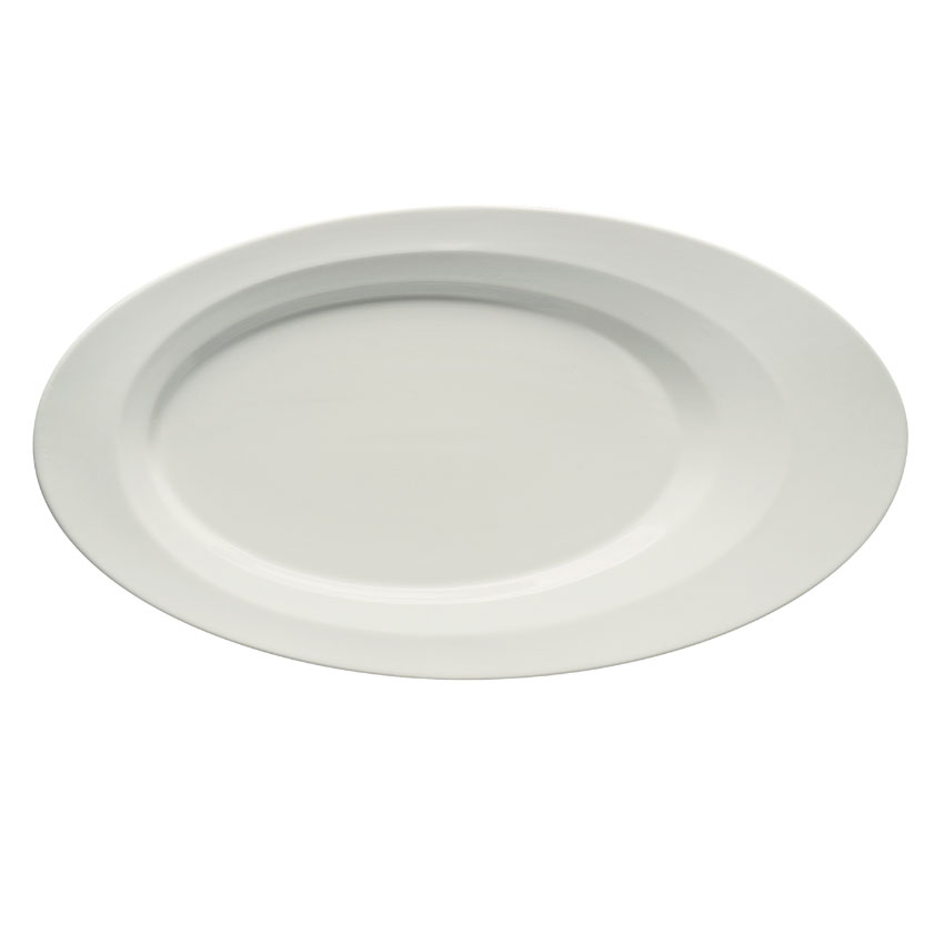 "Schonwald 9122618 Oval Allure Platter - 7"" x 3.5"", Porcelain, Bone White"
