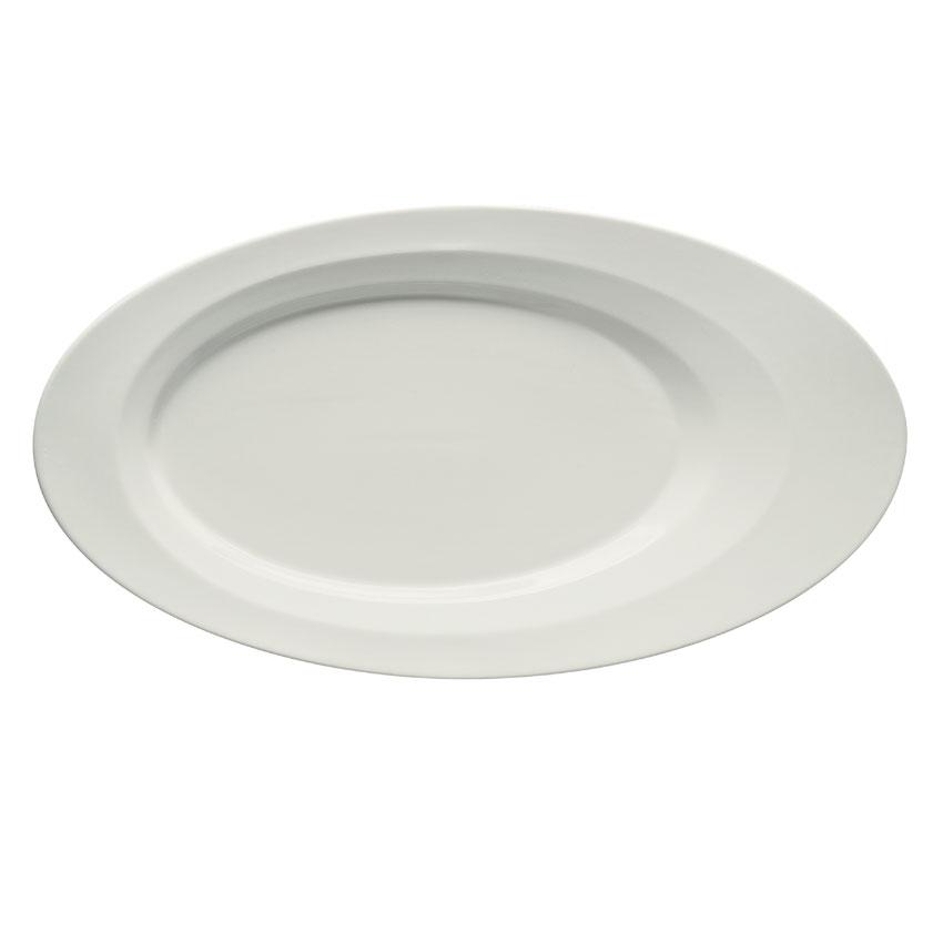 "Schonwald 9122630 Oval Allure Platter - 11.5"" x 6.25"", Porcelain, Bone White"