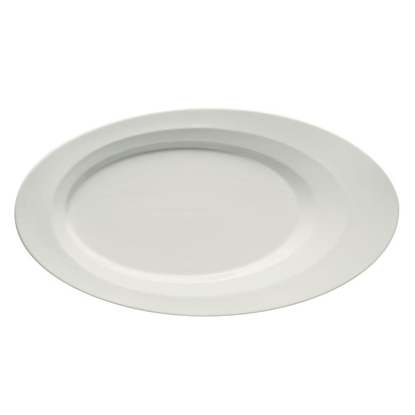 "Schonwald 9122636 Oval Allure Platter - 14"" x 7.5"", Porcelain, Bone White"