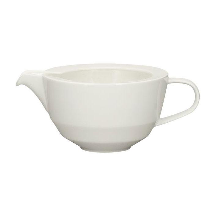 Schonwald 9123830 10.25-oz Allure Sauce Boat - Porcelain, Bone White
