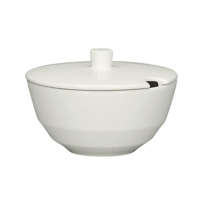 Schonwald 9124922 7.75-oz Allure Sugar Bowl - Porcelain, Bone White
