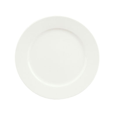 "Schonwald 9130027 10.5"" Porcelain Plate - Fine Dining Pattern, White"
