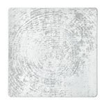 """Schonwald 9131527-63070 10.63"""" Square Shabby Chic Plate - Coupe, Porcelain, Structure Gray"""