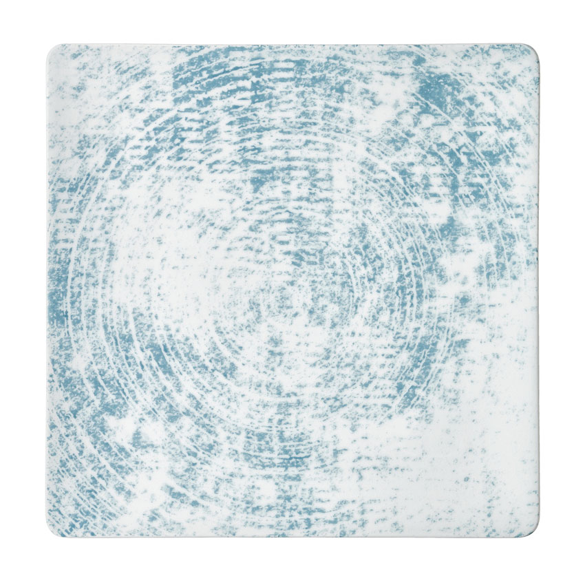 """Schonwald 9131527-63072 10.63"""" Square Shabby Chic Plate - Coupe, Porcelain, Structure Blue"""